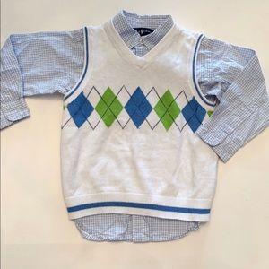 Ralph Lauren button down and Place Sweater Vest